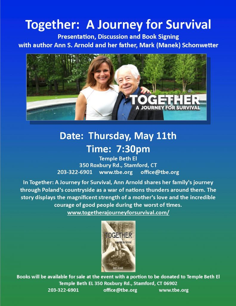 Together: A Journey for Survival @ Temple Beth El | Stamford | Connecticut | United States