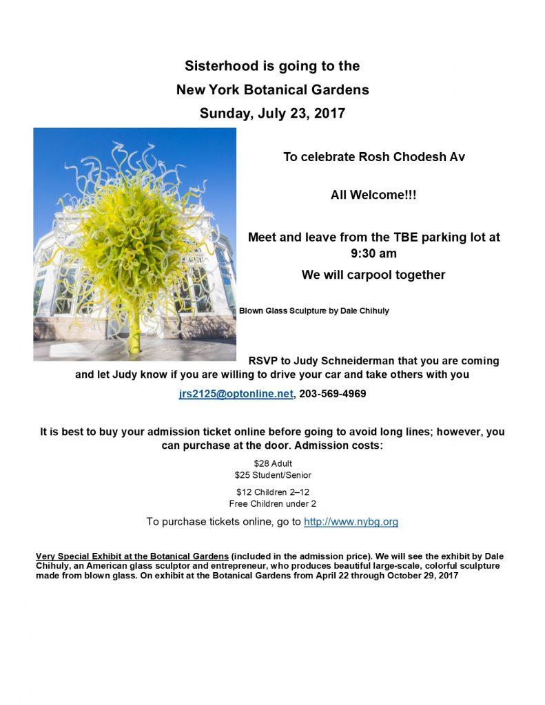 Special Women's Rosh Chodesh @ New York Botanical Garden | New York | United States