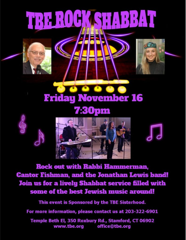 Rock Shabbat @ Temple Beth El | Stamford | Connecticut | United States