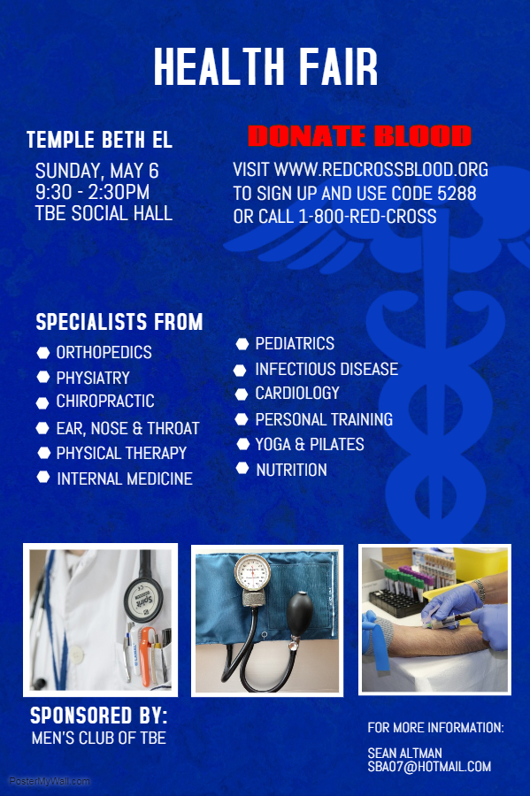 TBE Blood Drive & Health Fair @ Temple Beth El | Stamford | Connecticut | United States