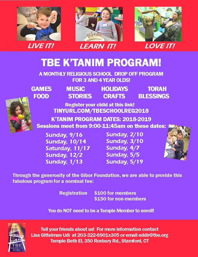 K'tanim @ Temple Beth El | Stamford | Connecticut | United States