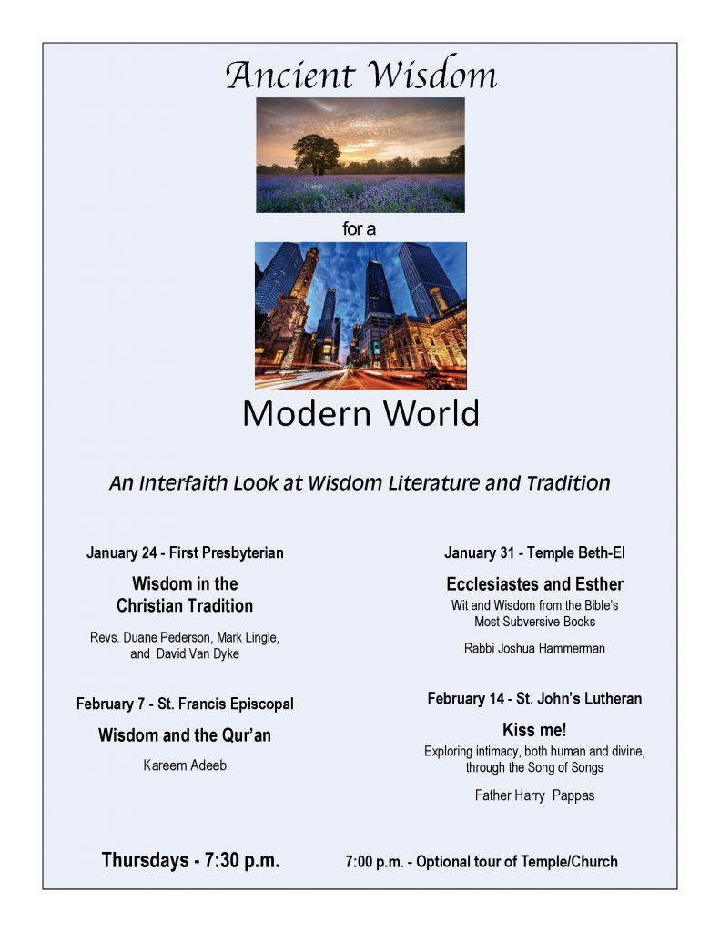 Ancient Wisdom for a Modern World @ See session info below for locations