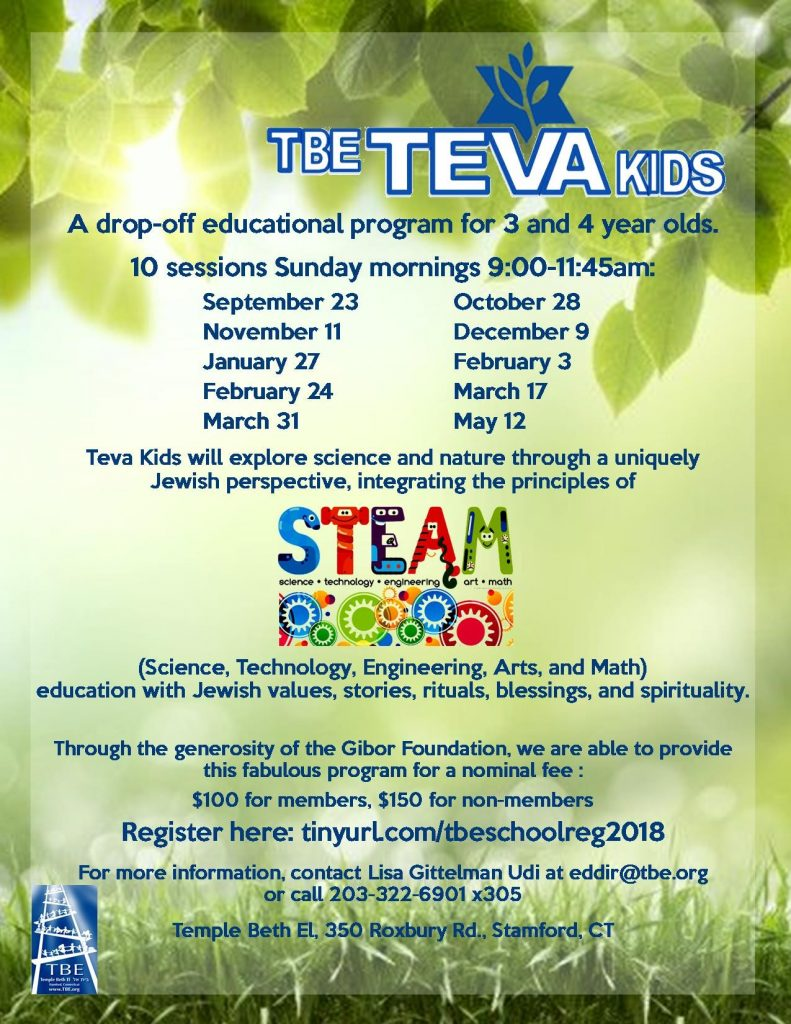 Teva Kids @ Temple Beth El | Stamford | Connecticut | United States