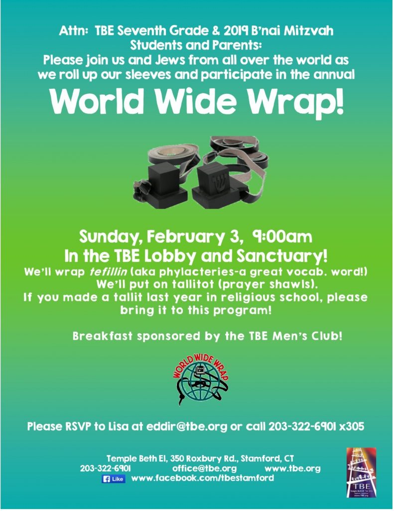 World Wide Wrap @ Temple Beth El