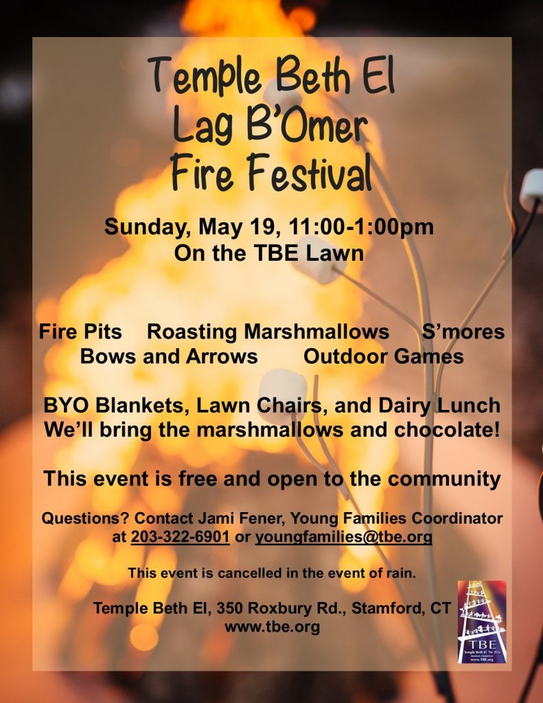 Lag B'Omer Fire Festival @ Temple Beth El | Stamford | Connecticut | United States