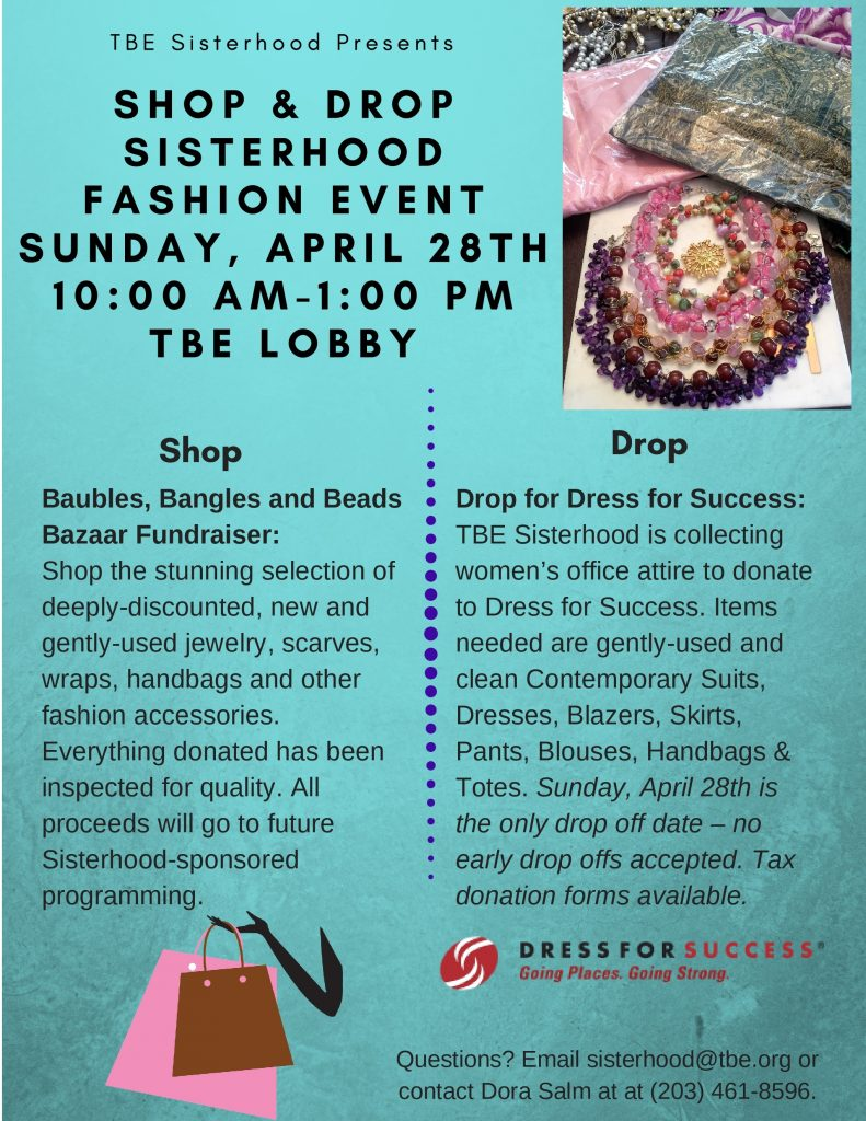 "Sisterhood ""Shop & Drop"" Fashion Event @ Temple Beth El 