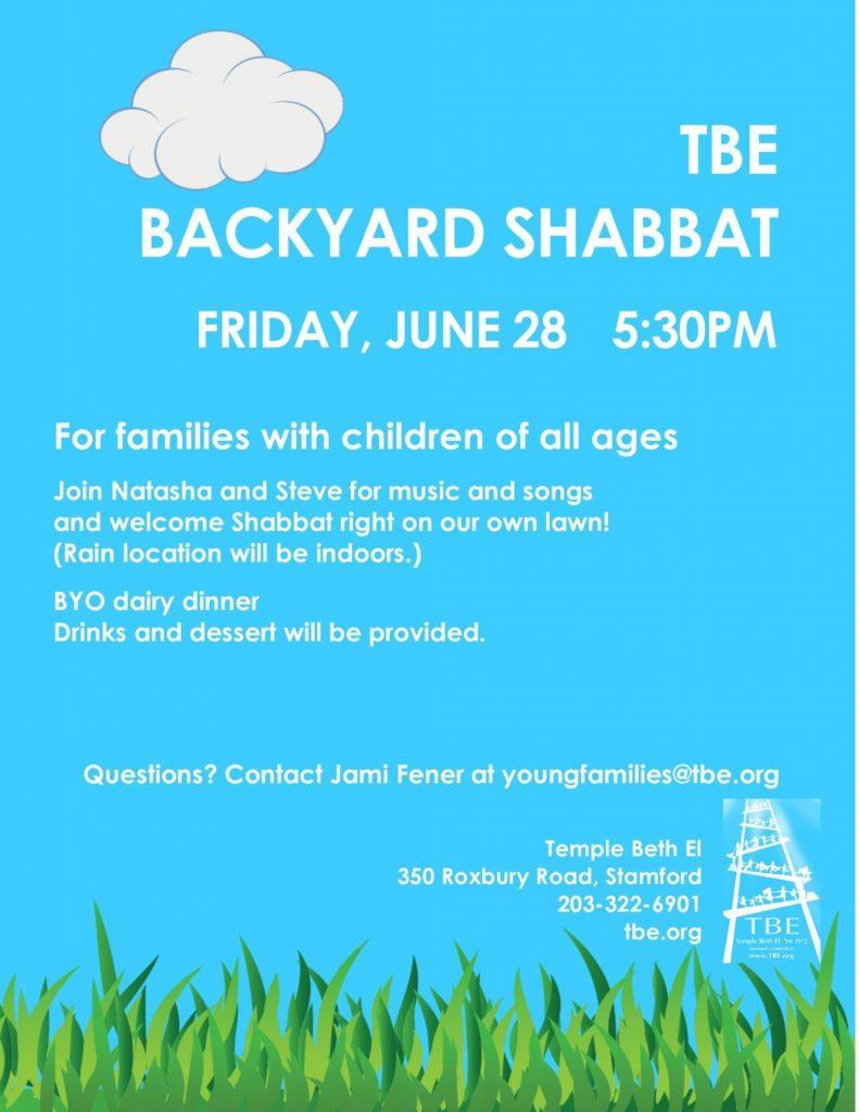 Family Backyard Shabbat @ Temple Beth El | Stamford | Connecticut | United States