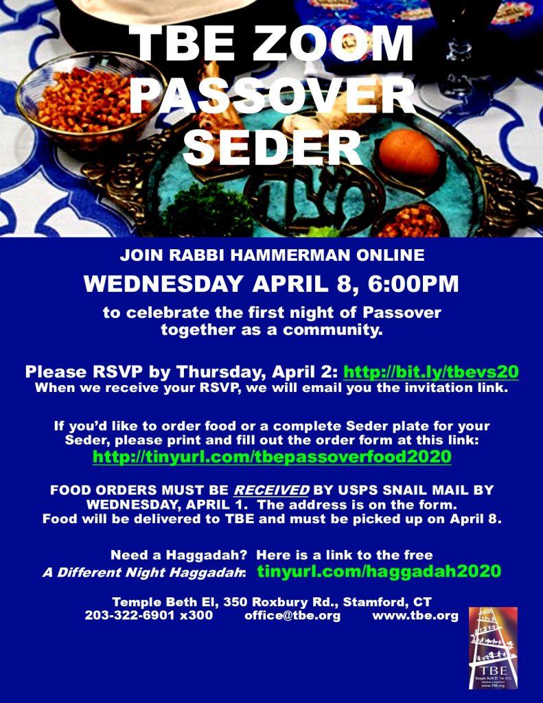 Zoom Seder