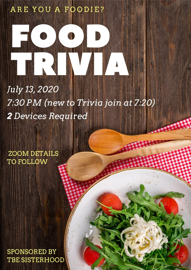 Food Trivia Night @ Via Zoom