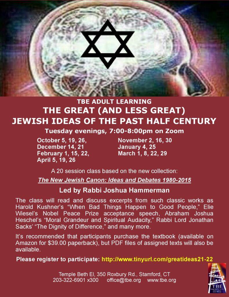 Jewish Ideas of the Past Half Century @ via Zoom